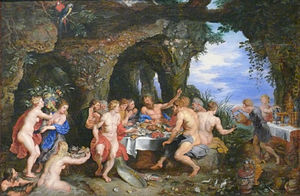 Achelous - The Banquet of Achelous, by Rubens, c. 1615