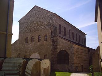 Austrasia - Ancient basilica of Saint-Pierre-aux-Nonnains from the 4th century in Metz, capital of the kingdom of Austrasia