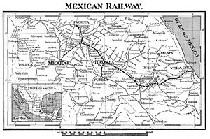Mexican Railway - 1912 map