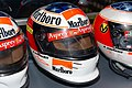 Michael Schumacher 1998 Spanish GP helmet front-right 2019 Michael Schumacher Private Collection.jpg