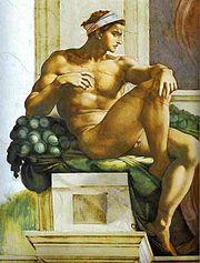 Ignudo, Sistine Chapel.