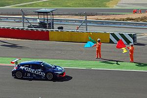 Eurocup Mégane Trophy - Mike Verschuur in Motorland Aragón after winning 2009 Renault Mégane Trophy championship