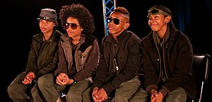 Mindless Behavior - Original group lineup from left-to-right: Roc Royal, Princeton, Prodigy, and Ray Ray