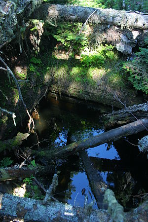 An abandoned mine shaft on Isle Royale Nationa...
