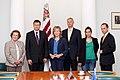Ministru prezidents V.Dombrovskis tiekas ar Eiropas Parlamenta Rūpniecības, pētniecības un enerģētikas komitejas deputātiem un Eiropas Elektronisko sakaru regulatoru iestādes (BEREC) vadību (7886169968).jpg
