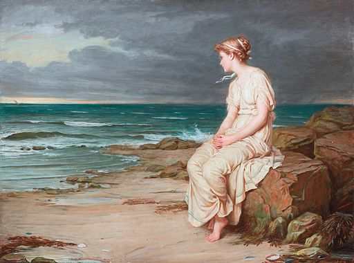 John William Waterhouse, Miranda, 1875, Wikimedia Commons