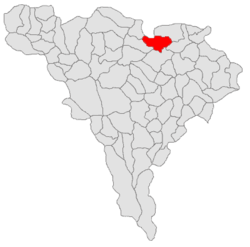 Location of Mirăslău