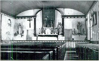 St. Ignace Mission - Image: Mission Church St Ignace Interiorpre 1906