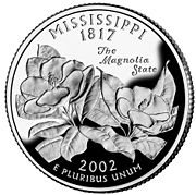 Mississippi quarter, reverse side, 2002