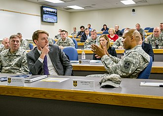 Fort Leonard Wood - Then Missouri Secretary of State Jason Kander visits Fort Leonard Wood in November 2013. Kander previously worked there as an instructor.