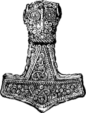 Heathenry in the United States - Mjölnir, the hammer of Thor, is one of the major symbols of Ásatrú.