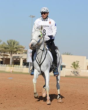 Mohamed Alabbar - Mohamed Alabbar competes in the Sheikh Mohammed bin Rashid Al Maktoum Endurance Cup 2013