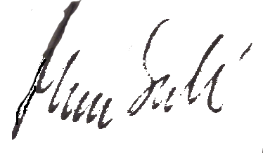 Mona Sahlin's signature