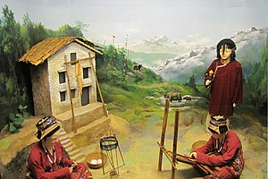 Monpa people - Diorama of the Monpa people at the Jawaharlal Nehru Museum, Itanagar, Arunachal Pradesh