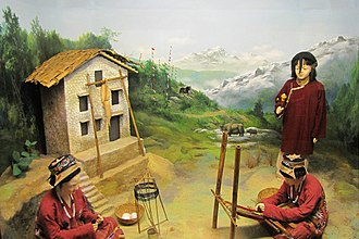 Diorama - Near life-size diorama of the Monpa people at the Jawaharlal Nehru Museum, Itanagar, Arunachal Pradesh, India