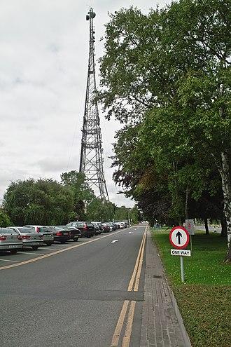 Raidió Teilifís Éireann - RTÉ links mast at Donnybrook campus.