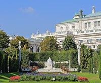 Monument to Empress Elisabeth, Volksgarten Vienna, September 2016.jpg
