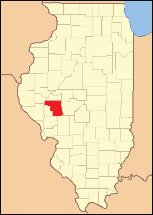 Morgan County, Illinois - Image: Morgan County Illinois 1839
