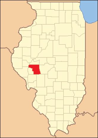 Morgan County, Illinois - Image: Morgan County Illinois 1839
