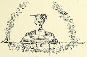 """Barnard College - A 1902 depiction of a """"modern"""" Barnard women."""