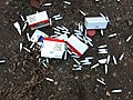 Mosa cream chargers fly-tipped at Bakers Hill car park 04.jpg