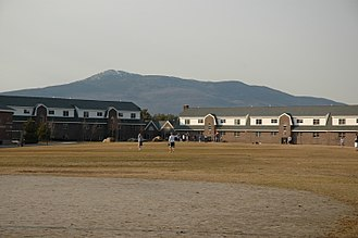 Franklin Pierce University - Mountain View apartments with Mount Monadnock towering in the rear