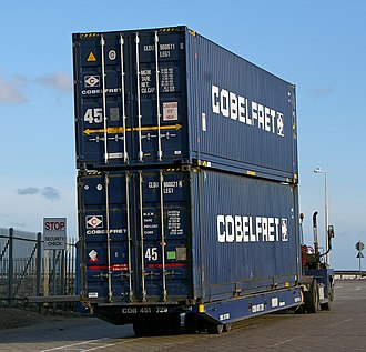 North Killingholme Haven - Container handling at the Humber Sea Terminal (2010)