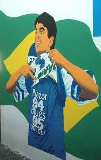 Bebeto - Mural of Bebeto in Riazor, stadium of Deportivo La Coruña.