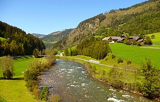 Mur (river) - The Mur valley near Tamsweg in Austria