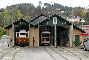 Tiroler MuseumsBahnen - Museum shed at start of operations