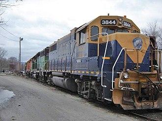 New England Central Railroad - NECR GP38 in Palmer, Massachusetts