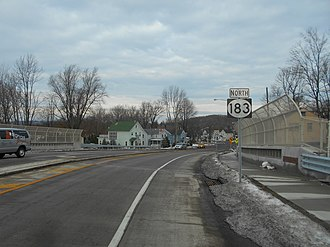 Netcong, New Jersey - New Jersey Route 183 in Netcong