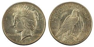 Peace dollar US dollar coin (1921–1928, 1934–1935)