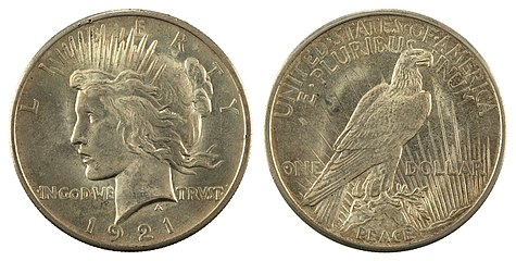 Nnc Us 1921 1 Peace Dollar Jpg