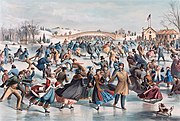Central-Park, Winter: The Skating Pond, 1862
