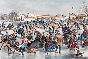 Figure skating - An 1862 lithograph depicting skating in the 19th century