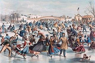 Central Park, Winter: The Skating Pond