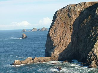 Erris - The Stags of Broadhaven Bay with Benwee Head in the foreground