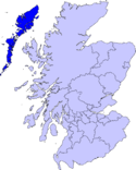 Location map of Outer Hebrides.