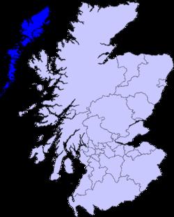 map of Na h-Eileanan Siar