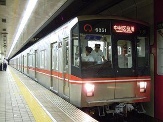 Sakura-dōri Line - Sakura-dōri Line 6050 series, July 2010