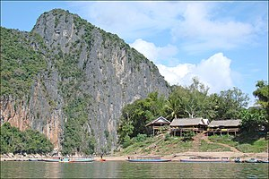 Mekong - The confluence of the Mekong and the Nam Ou river in Laos.