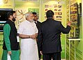 Narendra Modi visiting the exhibition at the inauguration ceremony of the Conference of State Environment & Forest Ministers, in New Delhi. The Minister of State for Environment.jpg