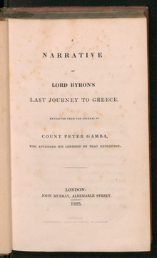 Summary of Lord Byron's
