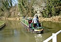 Narrowboat on the Kennet and Avon Canal near Avoncliff Aqueduct - geograph.org.uk - 877474.jpg