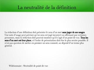 Fichiernature Des Sources Et Neutralité Dans Le Wiktionnairepdf