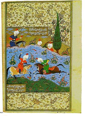 Ali-Shir Nava'i - A page from Nava'i's diwan. From the library of Suleiman the Magnificent.