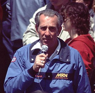 Motor Racing Network - Ned Jarrett during his days as an MRN pit reporter
