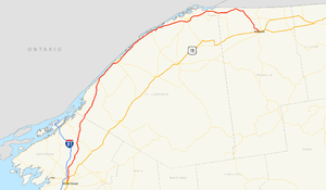 New York State Route 37 - Image: New York Route 37 map