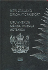 New Zealand Diplomatic Passport cover